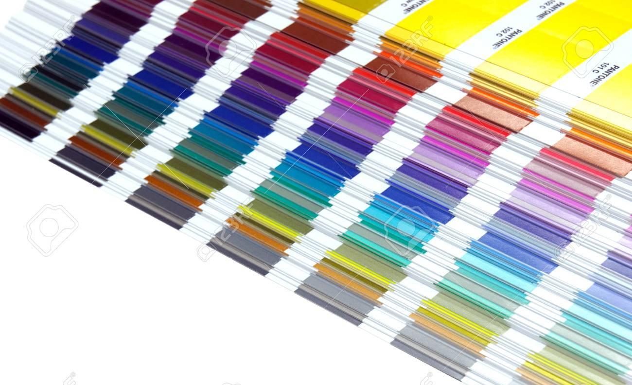 Pantone Sample Colors Catalogue Background Stock Photo Picture 1300x792