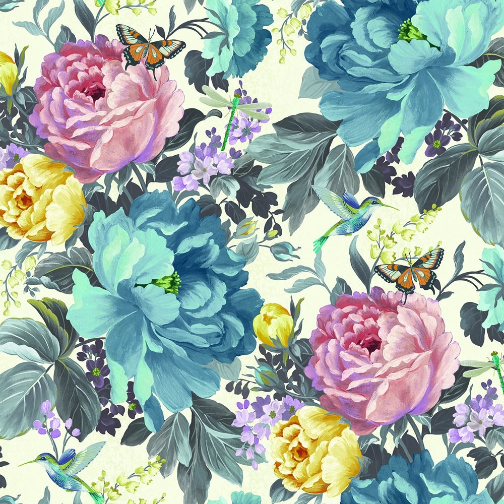 A Shade Wilder Dianthus Floral Wallpaper Forget Me Not 300108 1000x1000