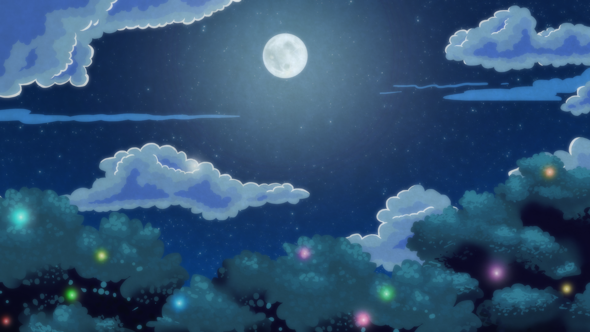 Anime Forest At Night Background Night forest by 1920x1080
