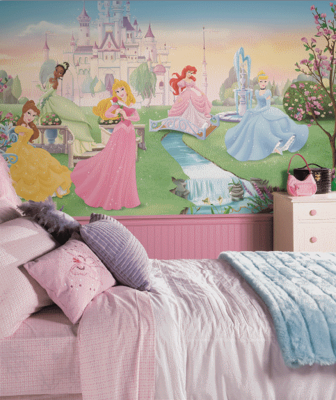 Disney Dancing Princess Wallpaper Mural 6x10 5 JL1228M Roompng 483x575