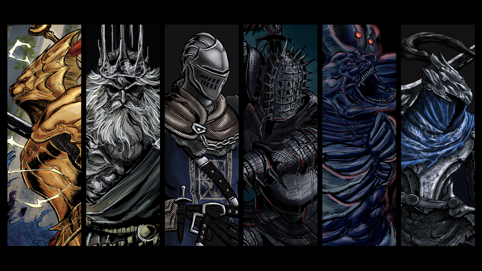 dark souls wallpaper by menaslg fan art digital art painting 1600x900