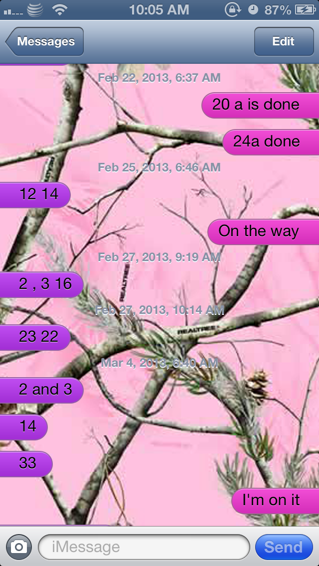Pink Camo RealTree 640x1136