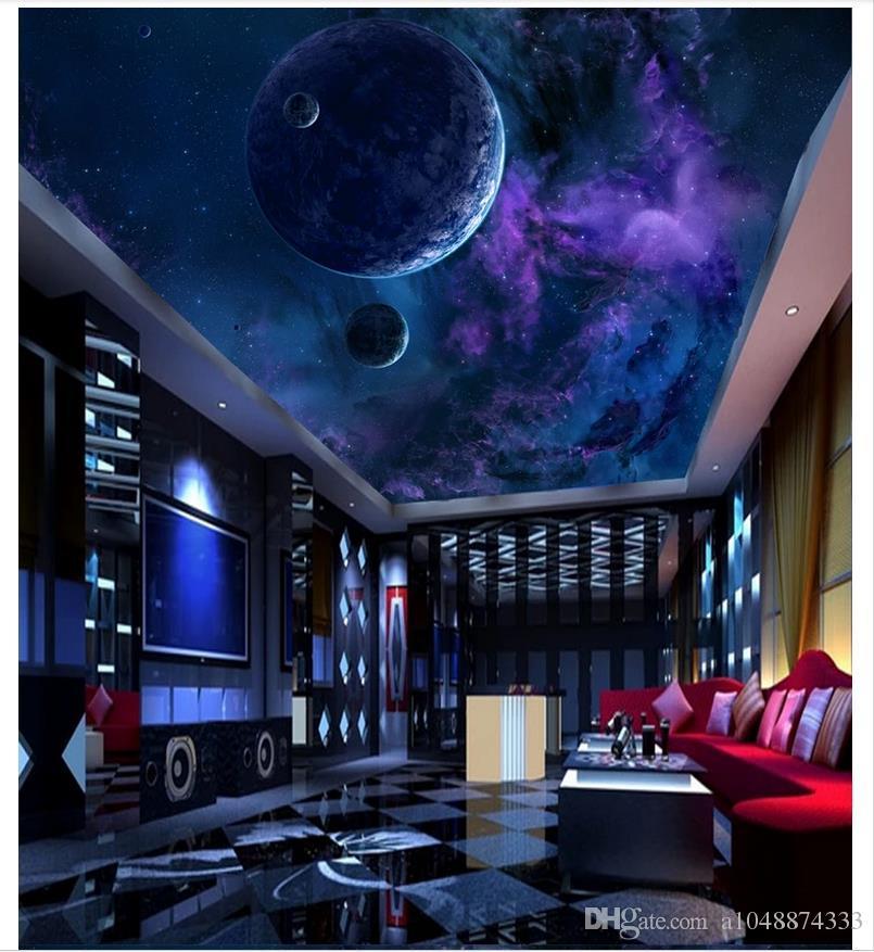 Compre 3d Fondo De Pantalla Personalizado 3d Techo Mural Wallpaper 805x877