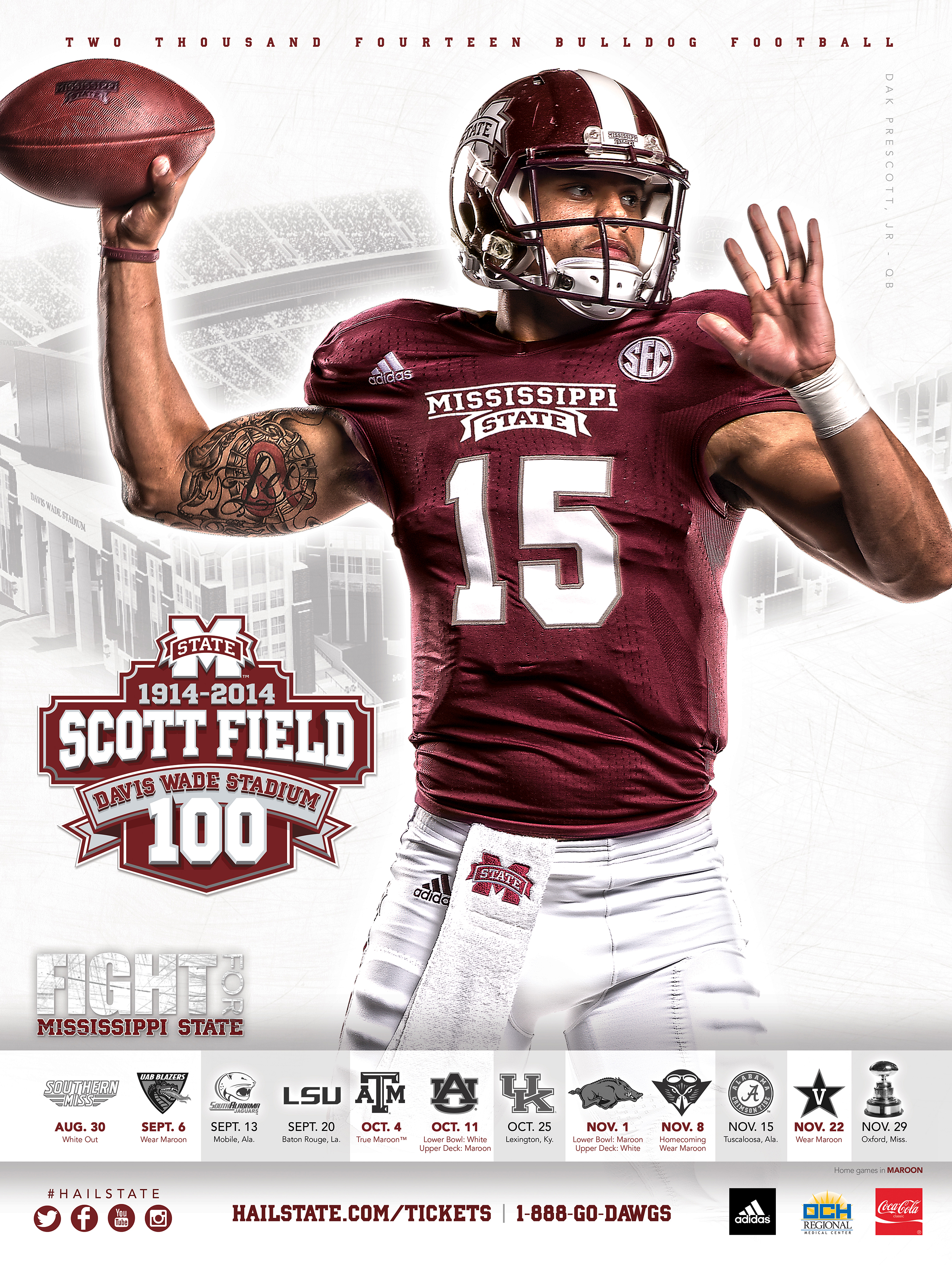 2014 MSU football schedule posters released HailStateBEAT 2400x3189
