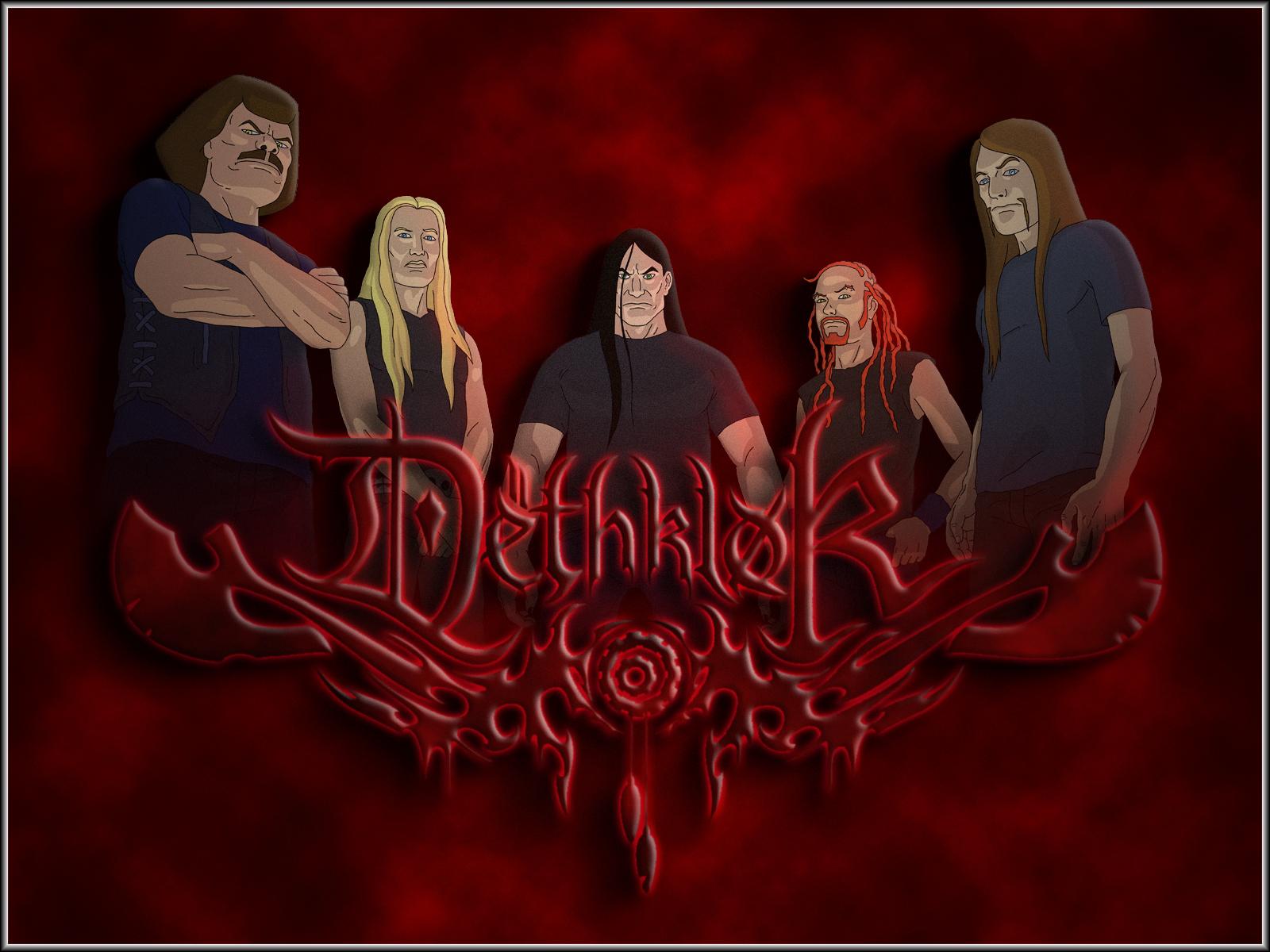 Download 1600x1200 Dethklok heavy metal music cartoons 1600x1200