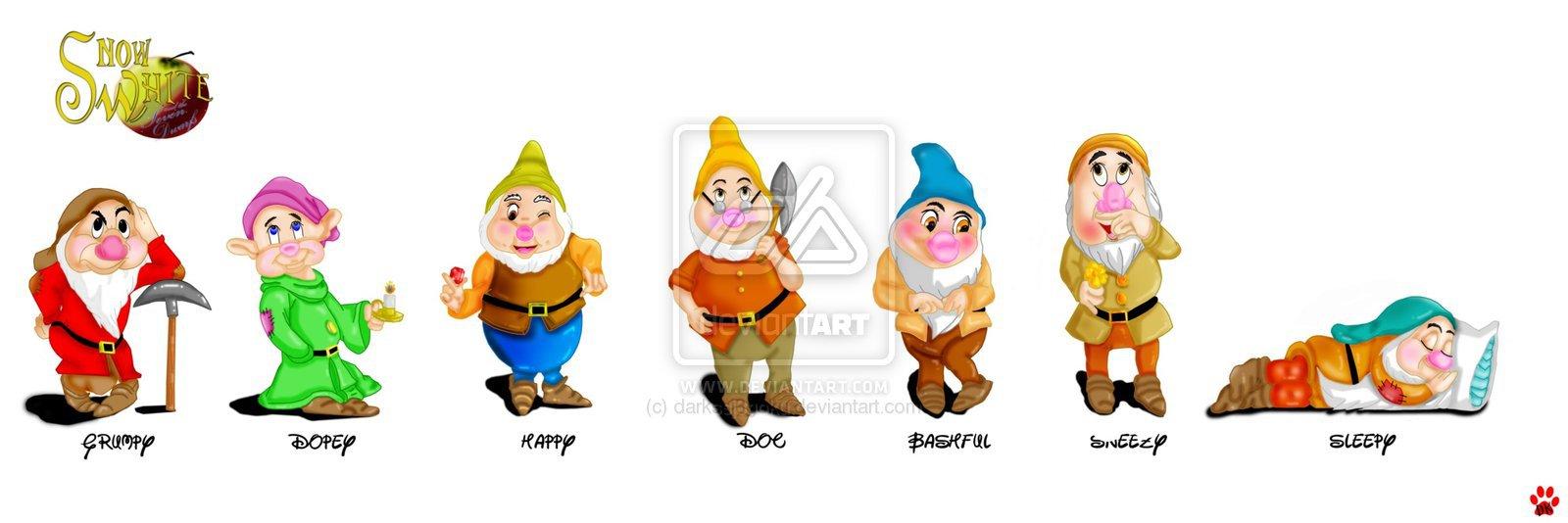 7 dwarfs names in order - Free Disney Cartoon