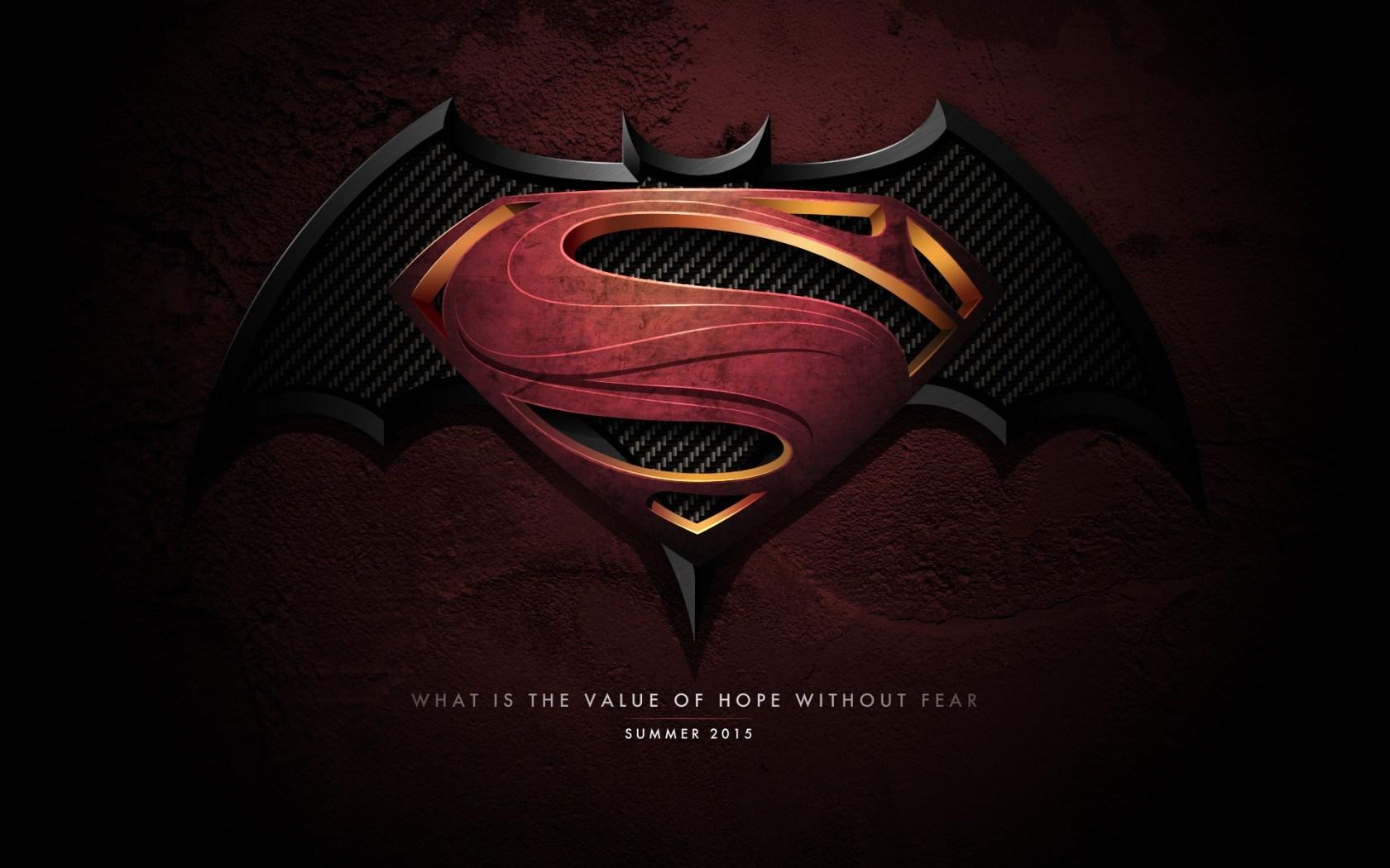 Batman VS Superman Logo Movies Wallpaper HD Wallpaper with 1680x1050 1680x1050