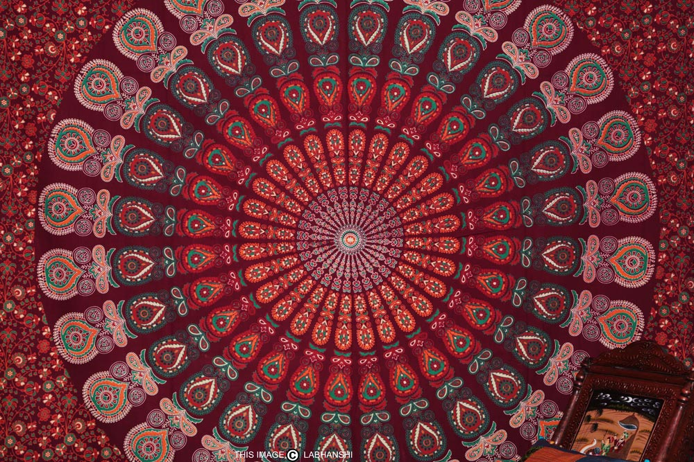 Boho Tapestry Wallpaper on trippy elephant