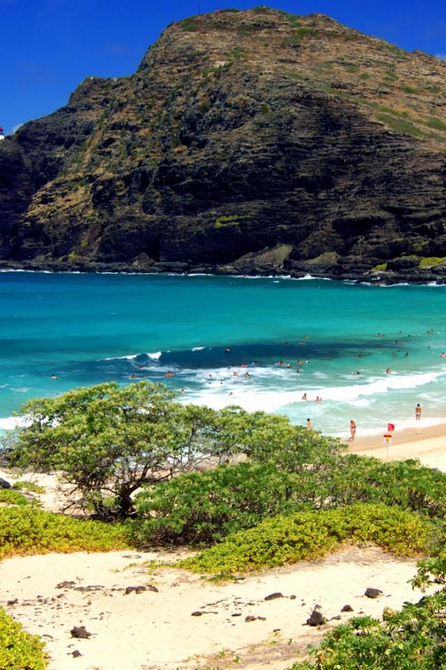 Get Beach Park Oahu Hawaii iPhone 44SiPod Wallpaper ImgPrix 640x960