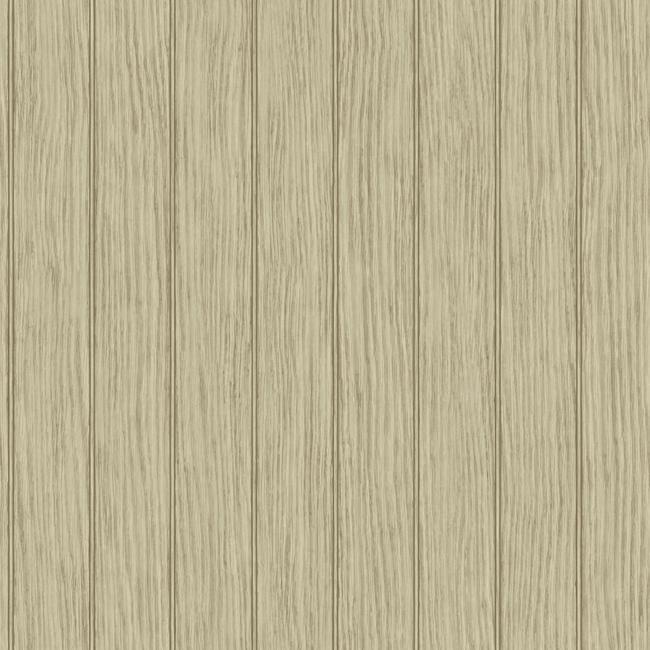 Bead Board Wallpaper in Brown design by York Wallcoverings BURKE 650x650