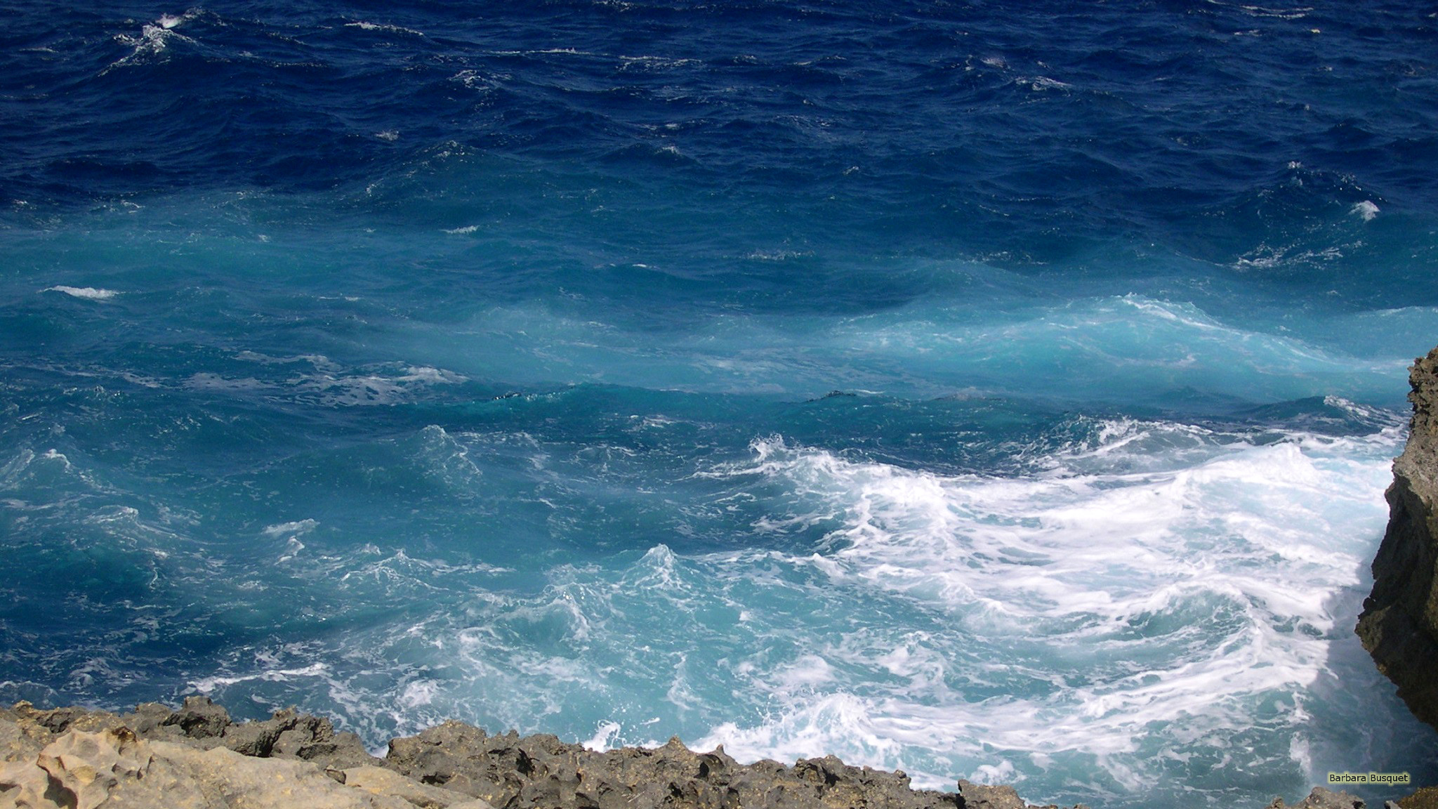 Blue ocean waves   Barbaras HD Wallpapers 2048x1152