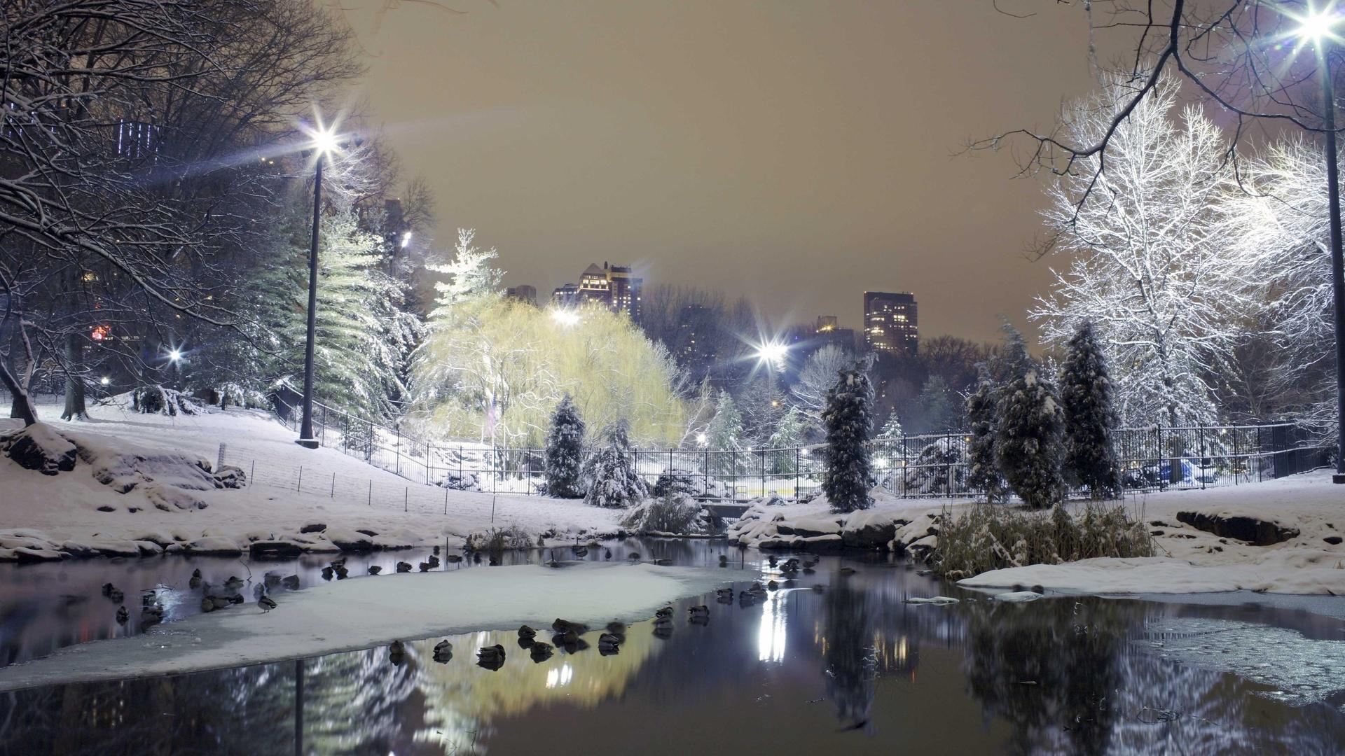 Winter in the City Wallpaper 1920x1080