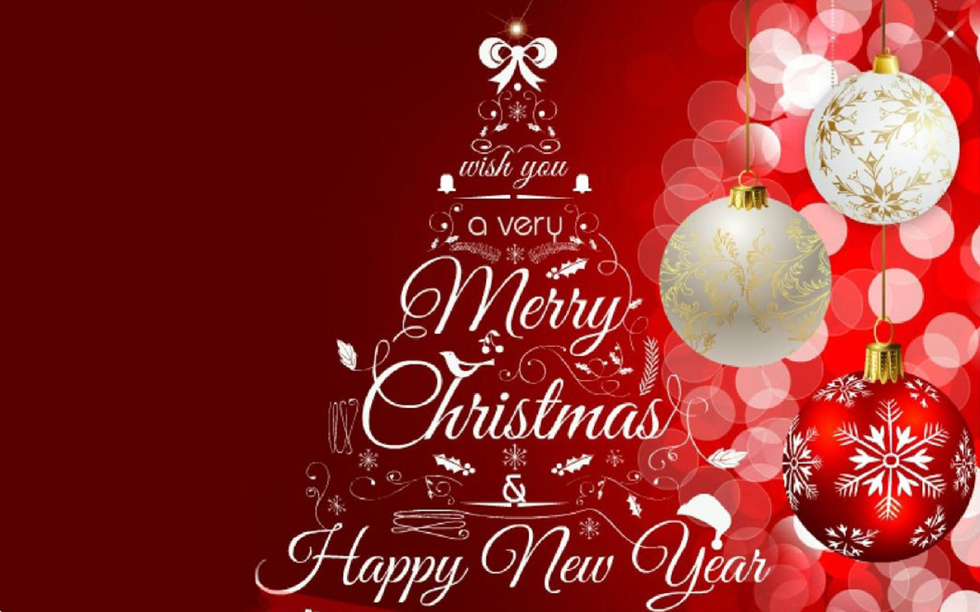 Greeting Card Merry Christmas And Happy New Year 2020 Images 1920x1200