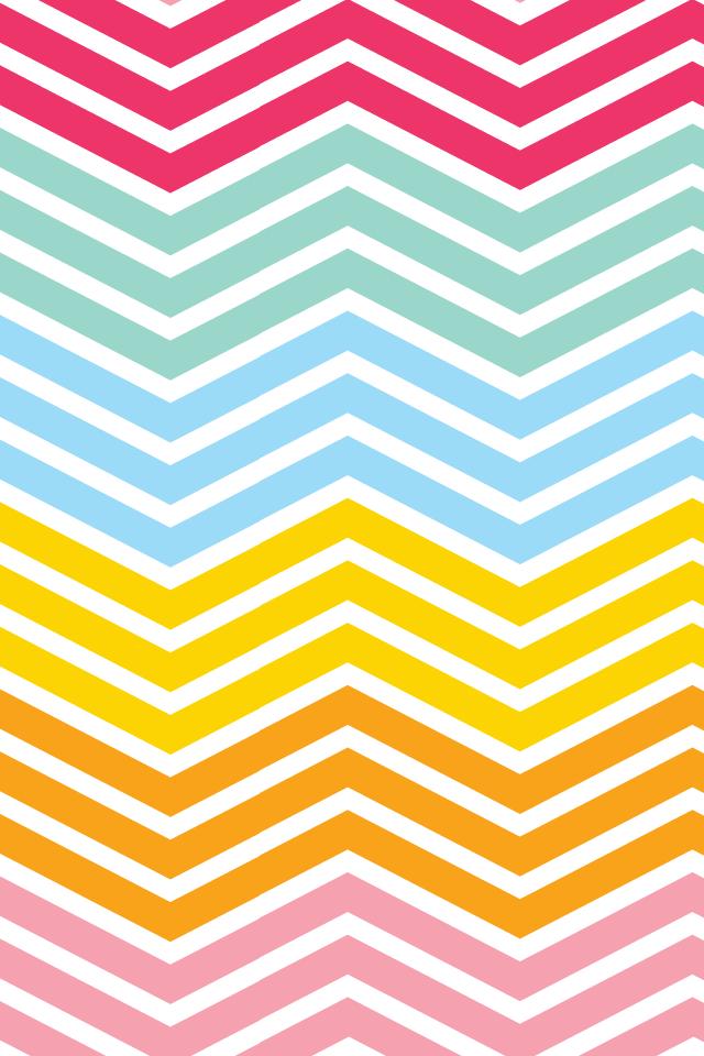14 Rainbow Chevron iPhone Wallpaper 640x960