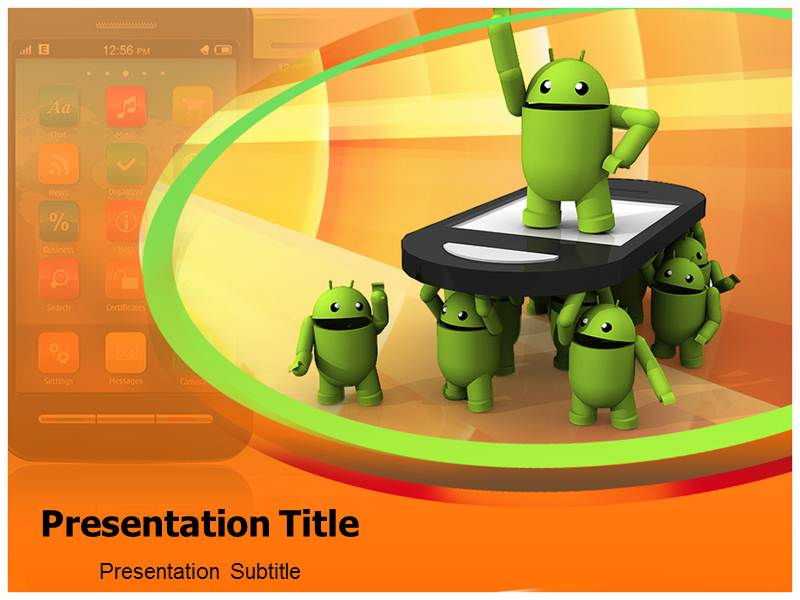 Use the android background PowerPoint to share the insights of 800x600