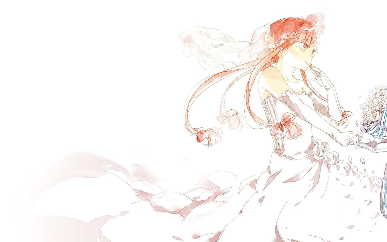 Dress up yuno gasai - Yuno Gasai Future Diary Anime Girl Flowers Wedding Dress Hd Wallpaper