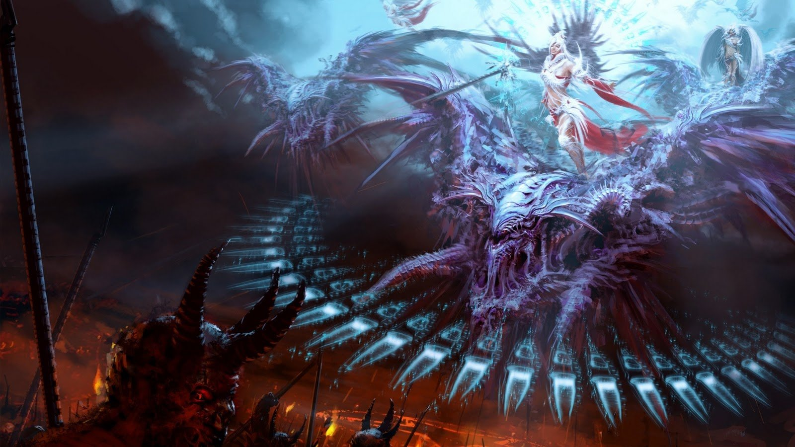 Angels Vs Demons Amazing 3D Art God Vs Devil Epic HD Wallpaper   Anny 1600x900