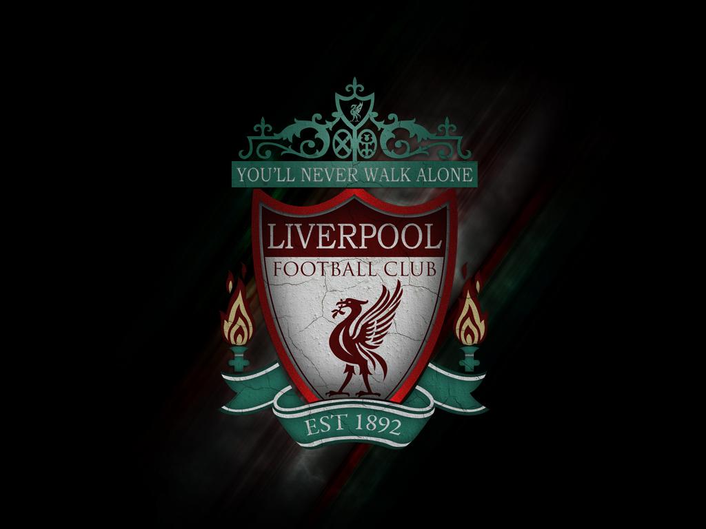 liverpool logo wallpaper 2 Football   1000 Goals 1024x768
