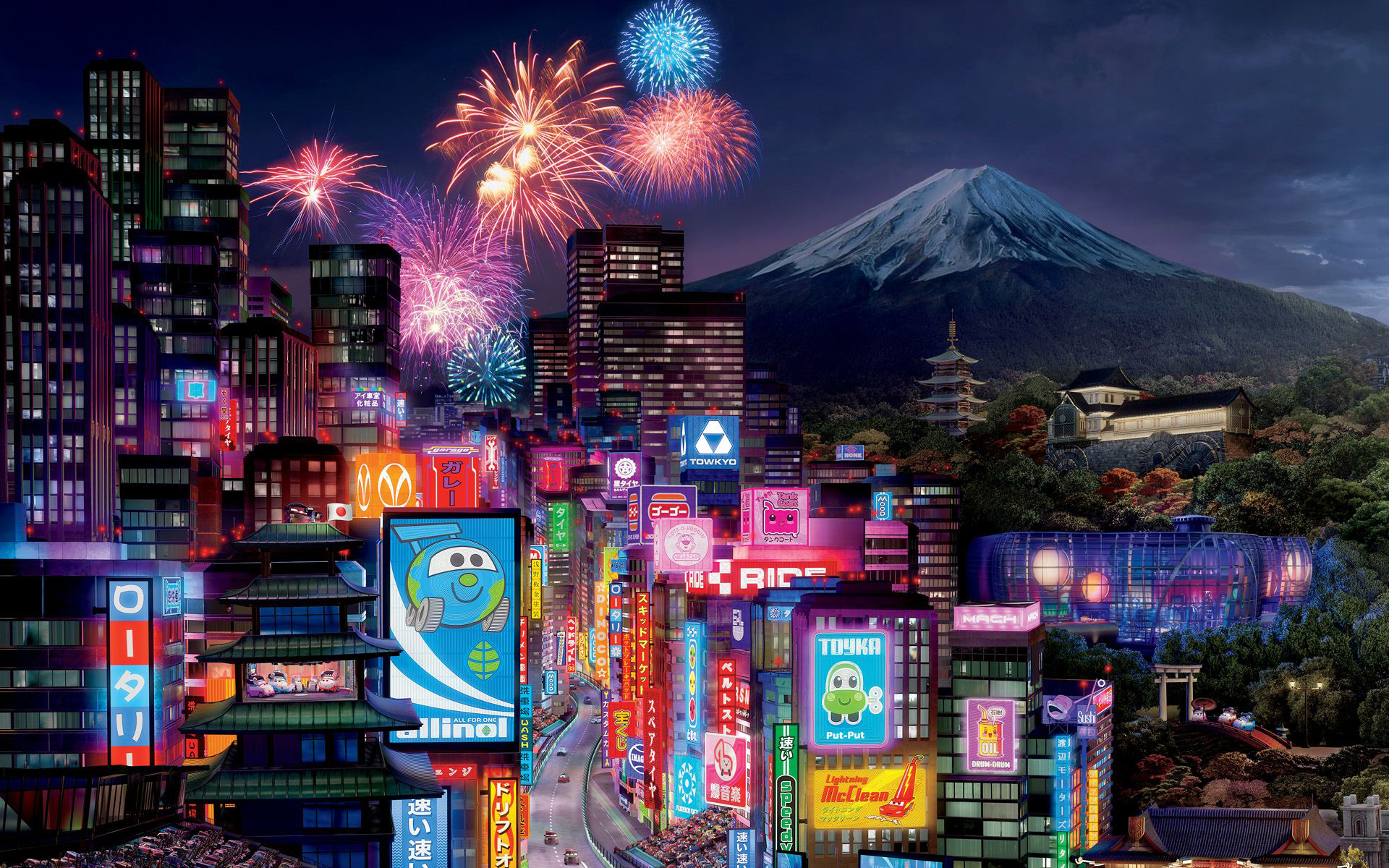 Tokyo City in Cars 2 Wallpapers HD Wallpapers 1920x1200