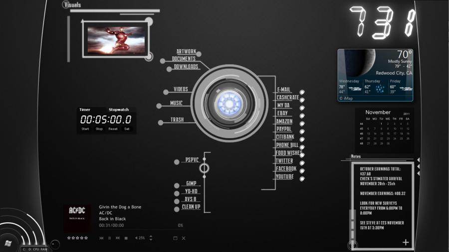 My Jarvis Desktop by GreedXIII 900x506