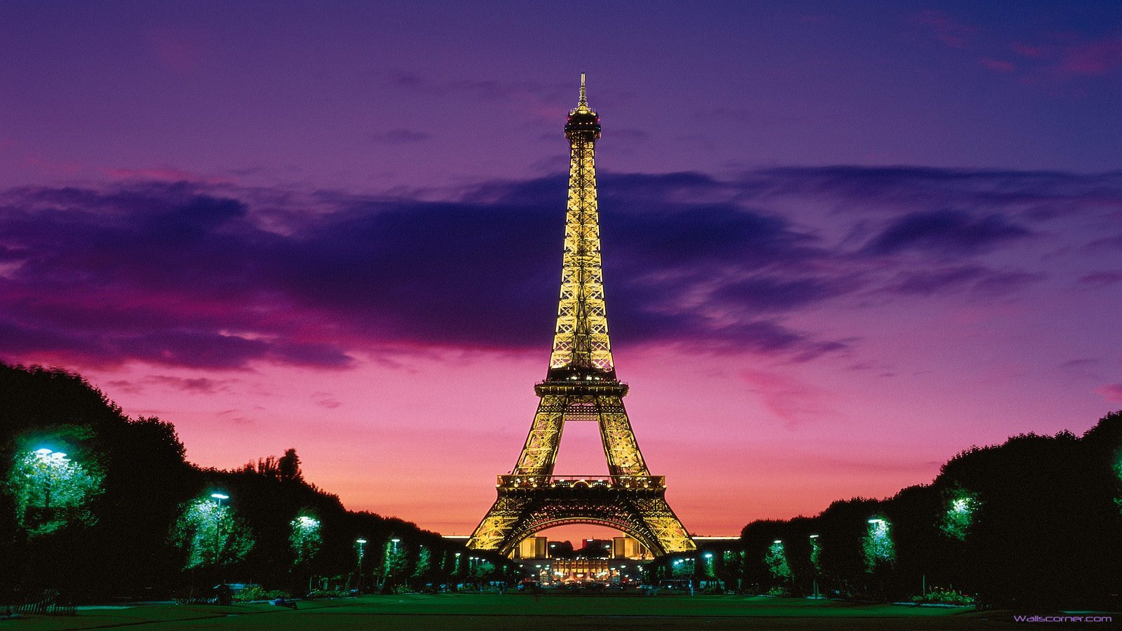 Download Eiffel Tower At Night Paris France Wallpaper Car Pictures 1600x900