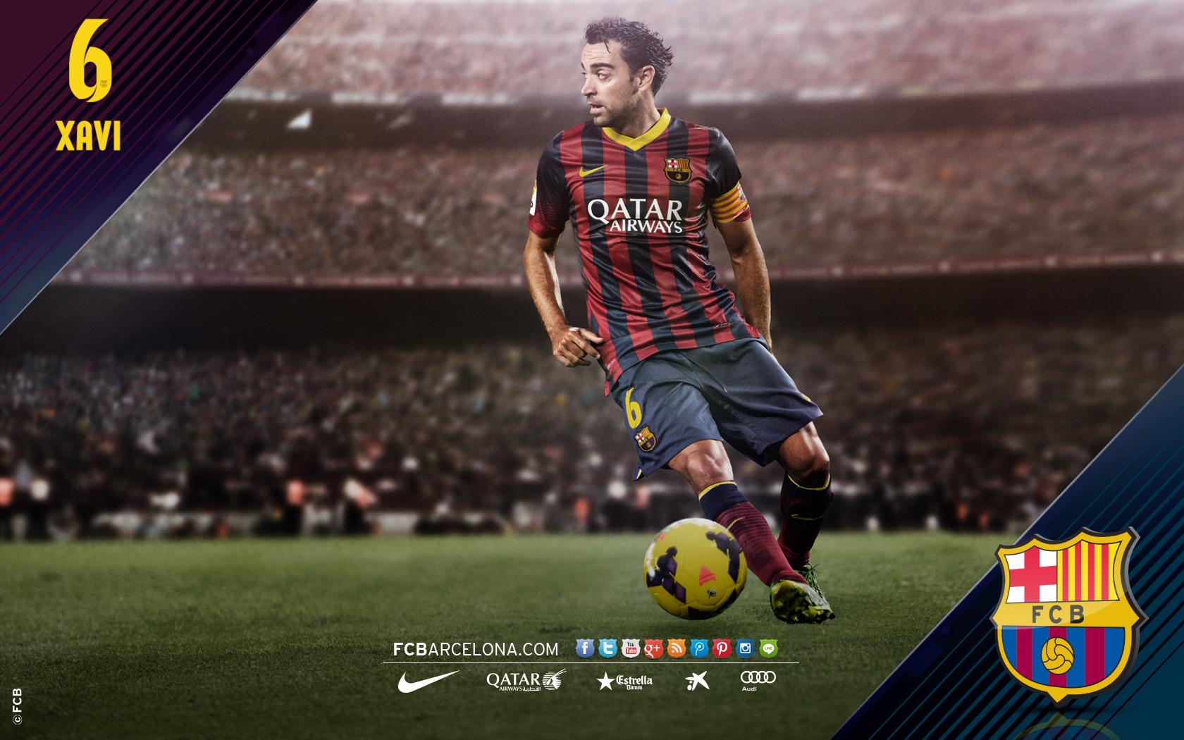Pics Photos   Fc Barcelona Xavi Wallpaper 1680x1050