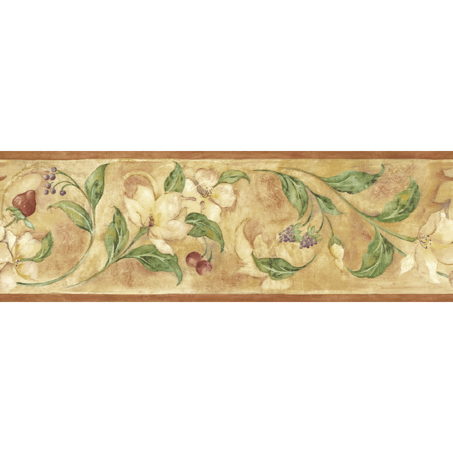 Floral And Berry Scroll Prepasted Wallpaper Border at Lowescom 900x900