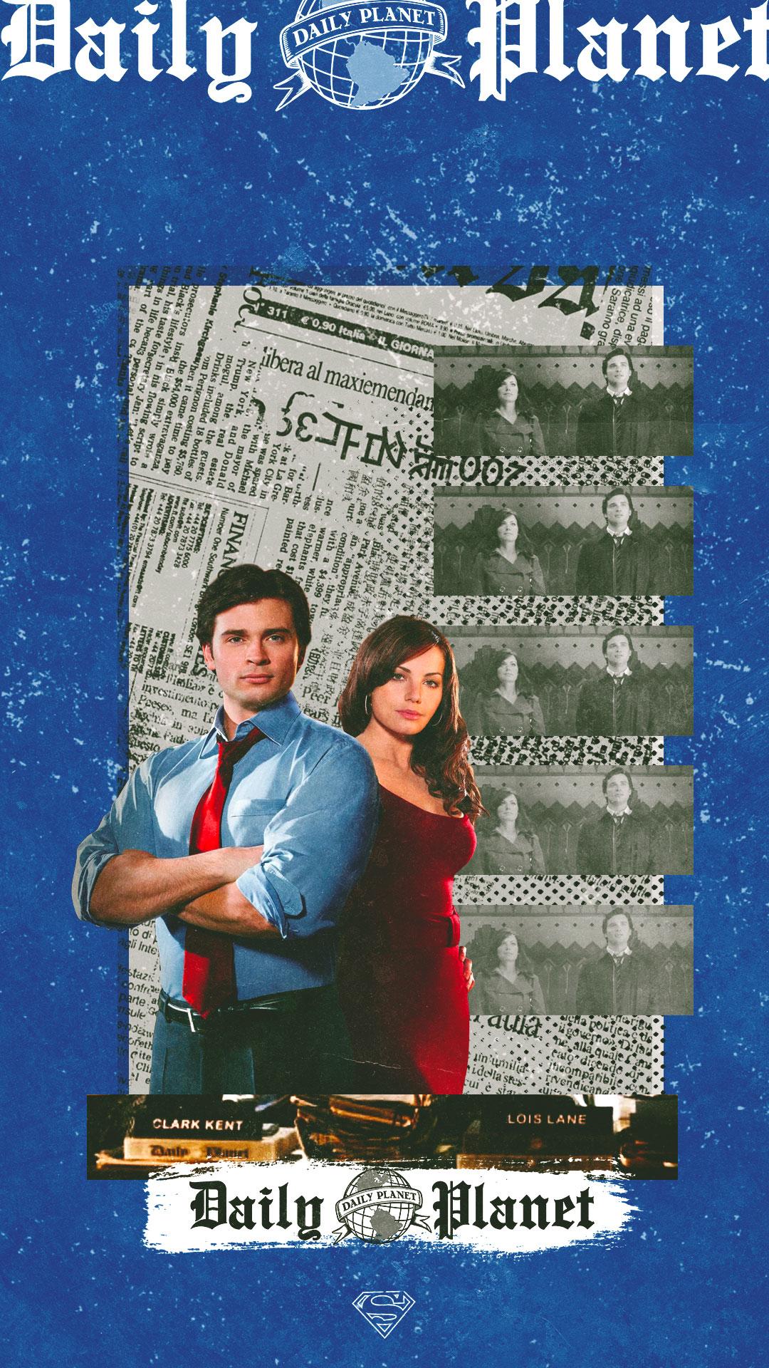 Clark Kent Lois Lane x Daily Planet phone wallpaper Smallville 1080x1920