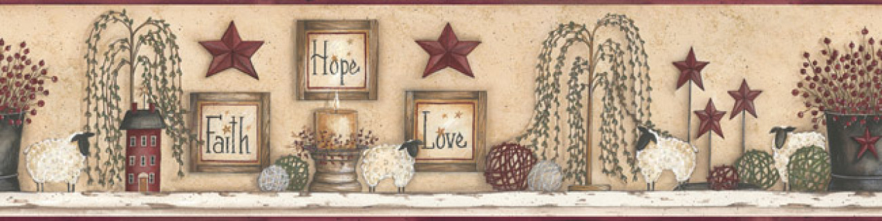 Wall Borders   Primitive Home Decor and More LLC 1276x320