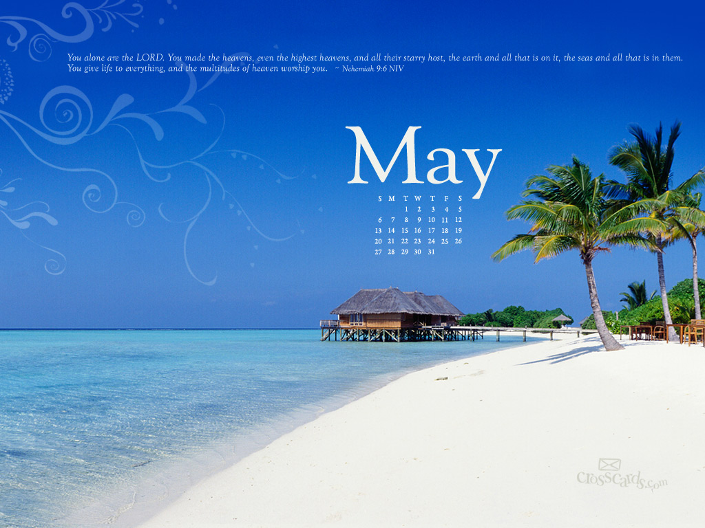 May 2012   Neh 96 Desktop Calendar  Monthly Calendars Wallpaper 1024x768