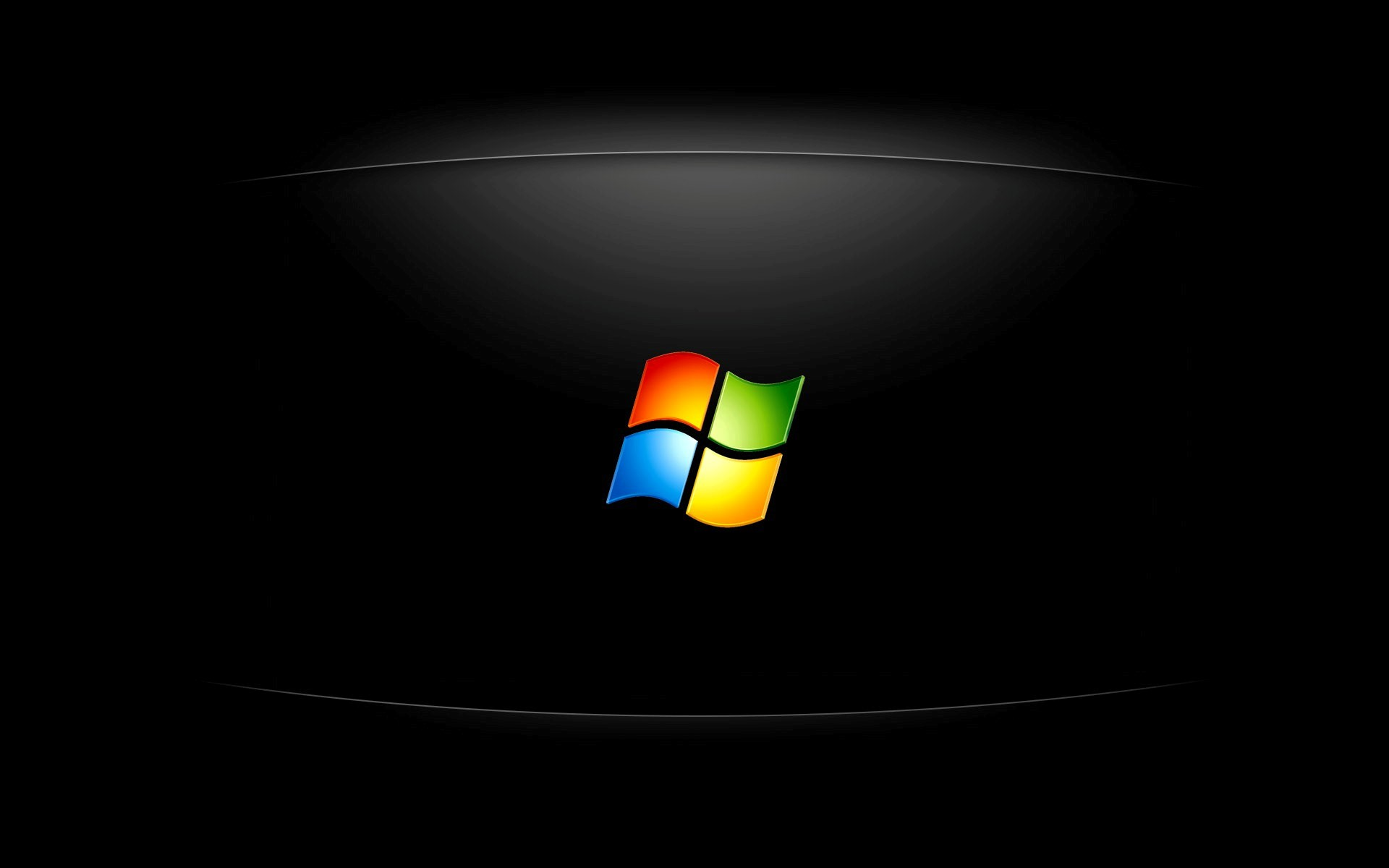 Windows Logo in Black Background HD Wallpapers 1920x1200