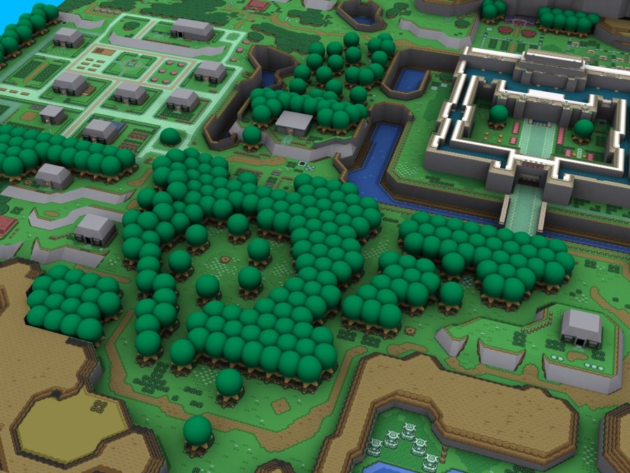 Link To The Past Map Wallpaper Zelda link to the past in 3d 900x675