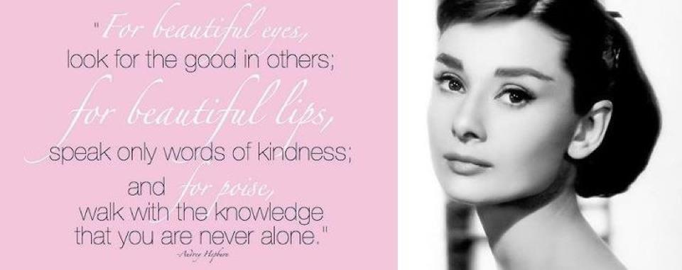 Love Quotes By Audrey Hepburn Wallpapers Audrey Hepburn Quotes Image 960x381