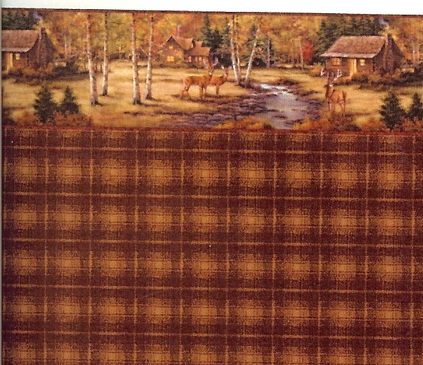 Dollhouse Wallpaper Stripe Plaid Wallpaper Log Cabin Plaid 605x522