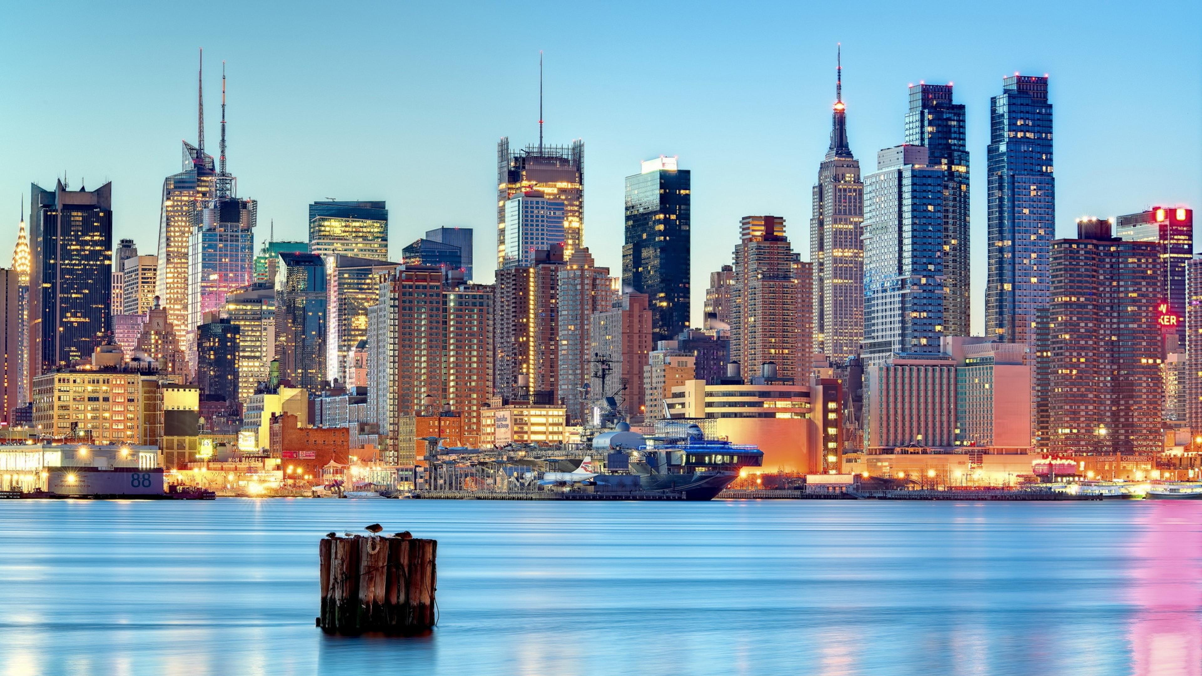 Download Usa New Jersey Weehawken New York Wallpaper Background 4k