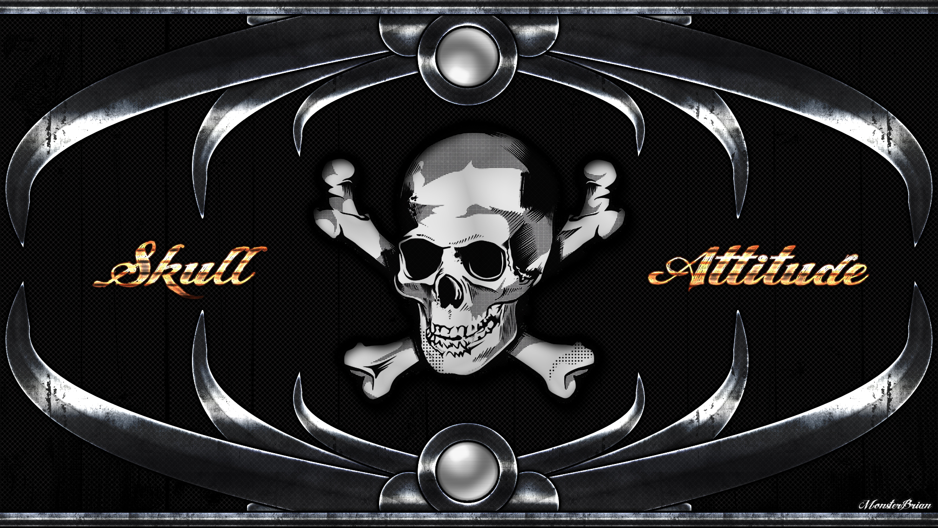 Wallpaper Skull Attitude By XxMonster Brianxx 1920x1080