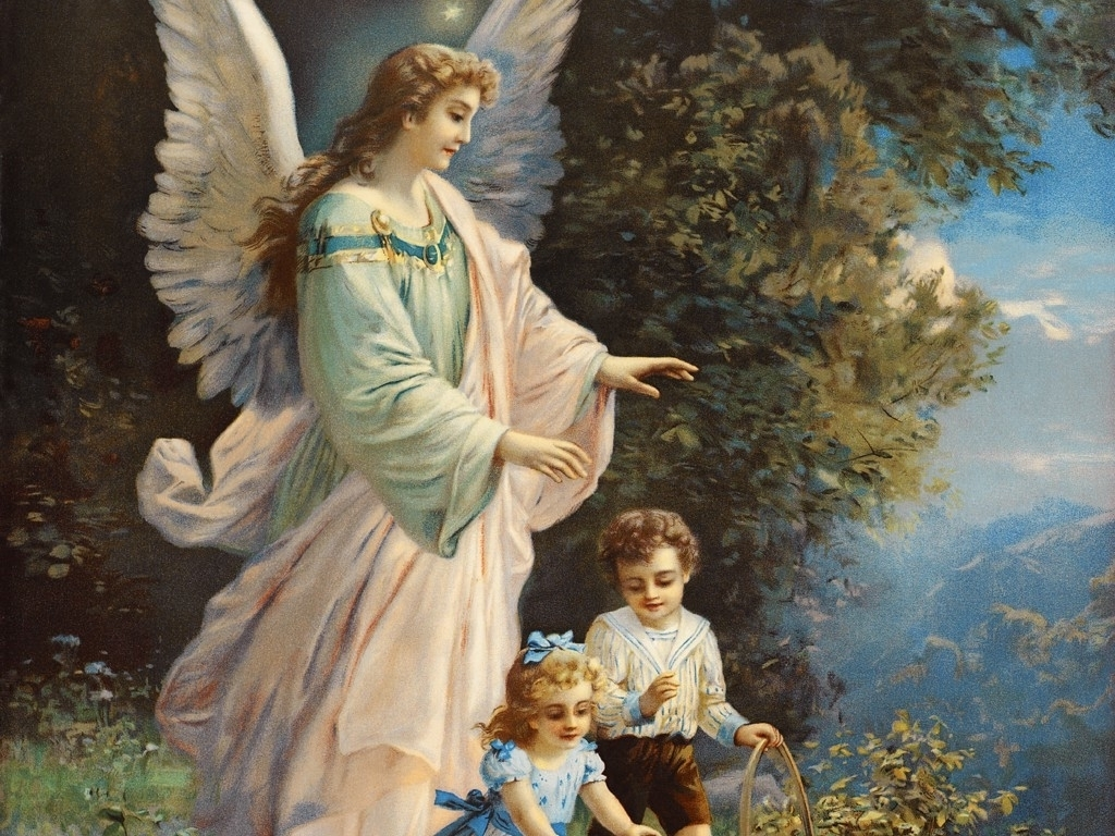 Guardian Angel   Angels Wallpaper 10152074 1024x768