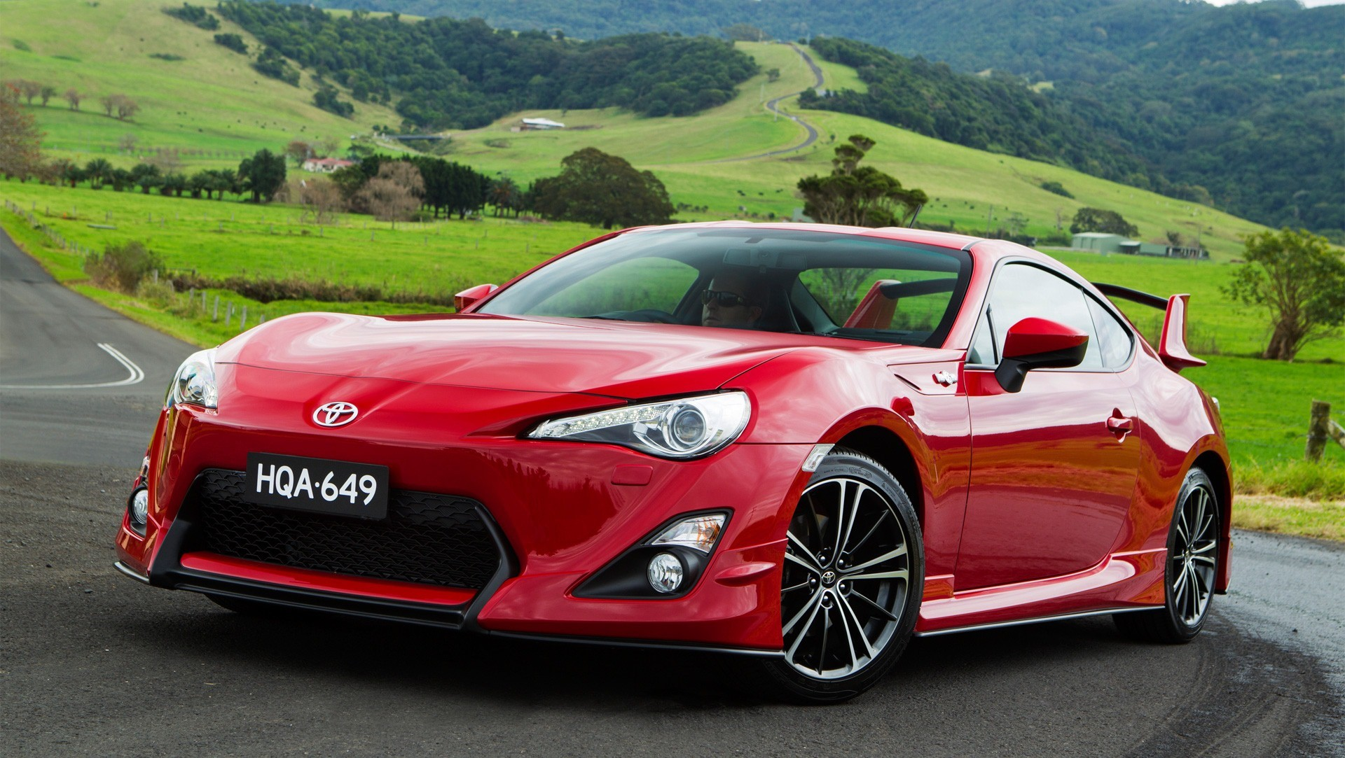 red toyota sport car wallpaper added on 18 05 2013 category toyota 1920x1083
