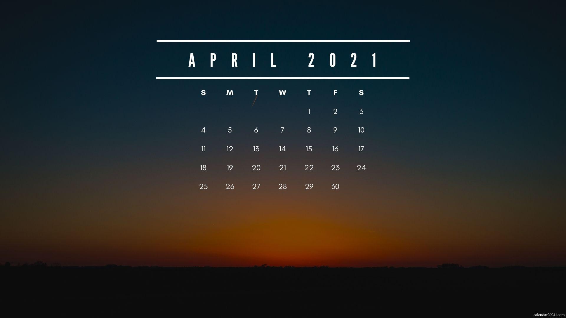 April 2021 Calendar Wallpapers   Top April 2021 Calendar 1920x1080