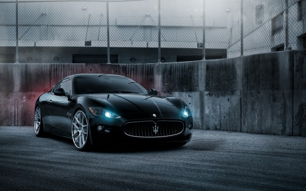 Maserati Black widescreen wallpaper Wide WallpapersNET 600x375