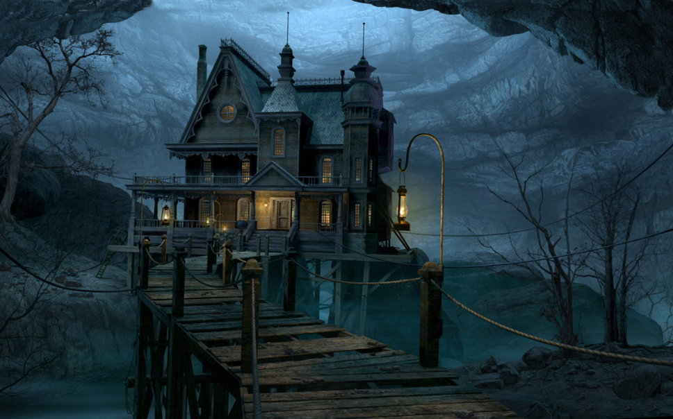 Halloween house wallpaper   ForWallpapercom 968x604