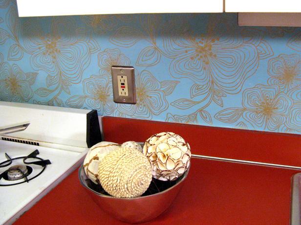 100 Half Day Designs Wallpapered Backsplash Kitchen Ideas Design 616x462
