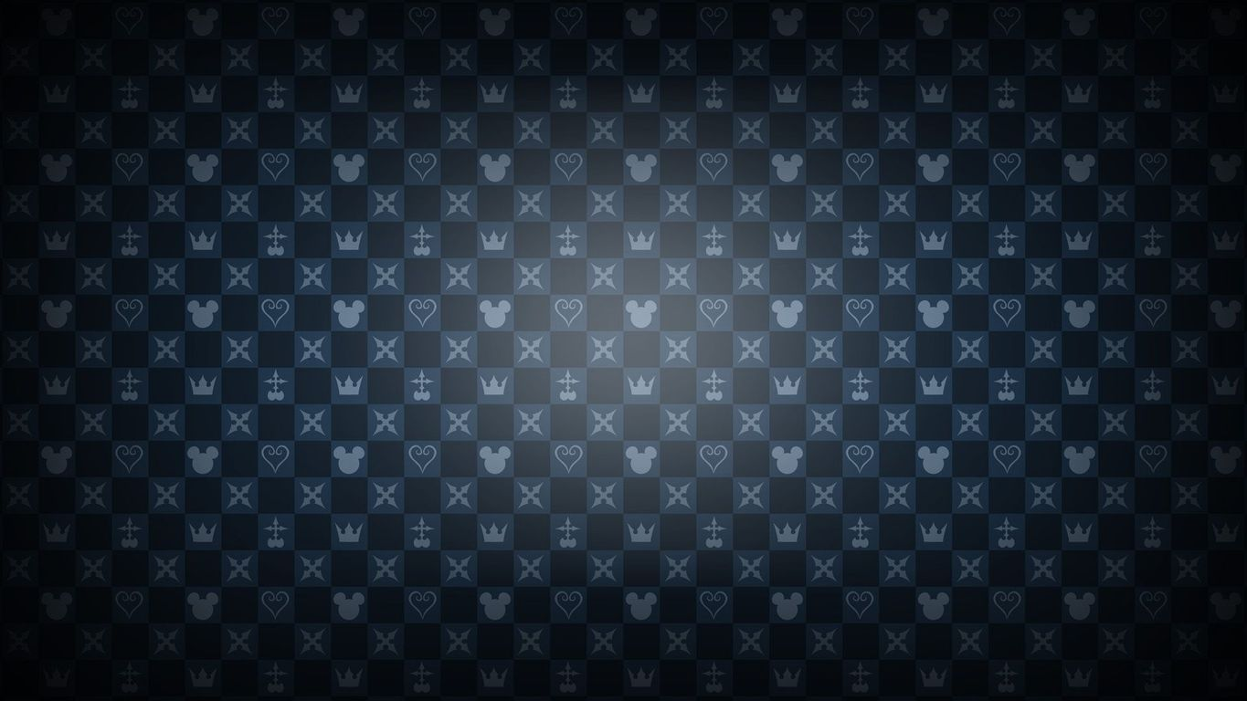 Kingdom Hearts pattern wallpaper 14547 1365x768