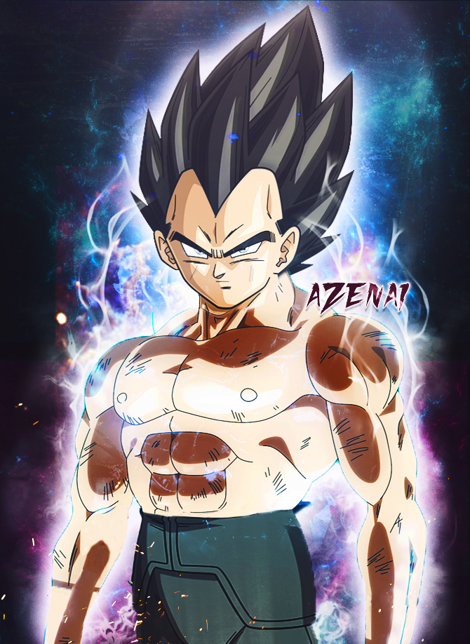 Vegeta Ultra Instinct Copyright by Azenai 670x918