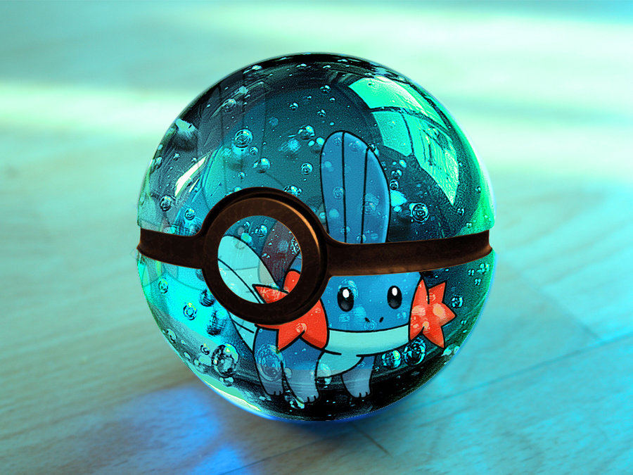 The pokeball of Mudkip by Franco159487 on deviantART 900x675