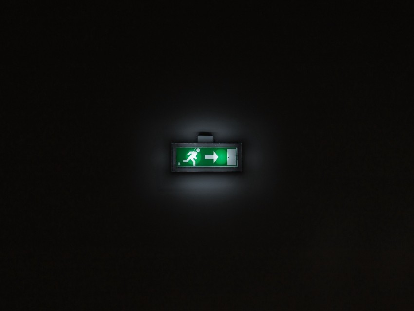 exit pointer sign backlight dark background TOPpng 850x638