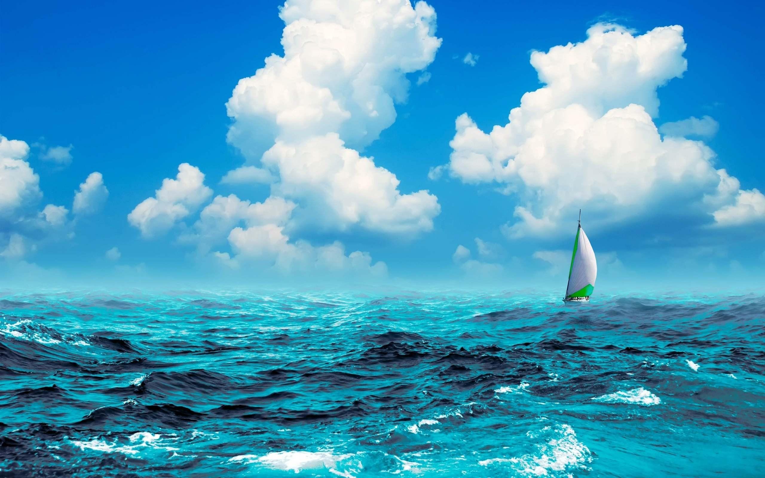 Sail Boat In The Sea Desktop Background Wallpaper Sea 2560x1600