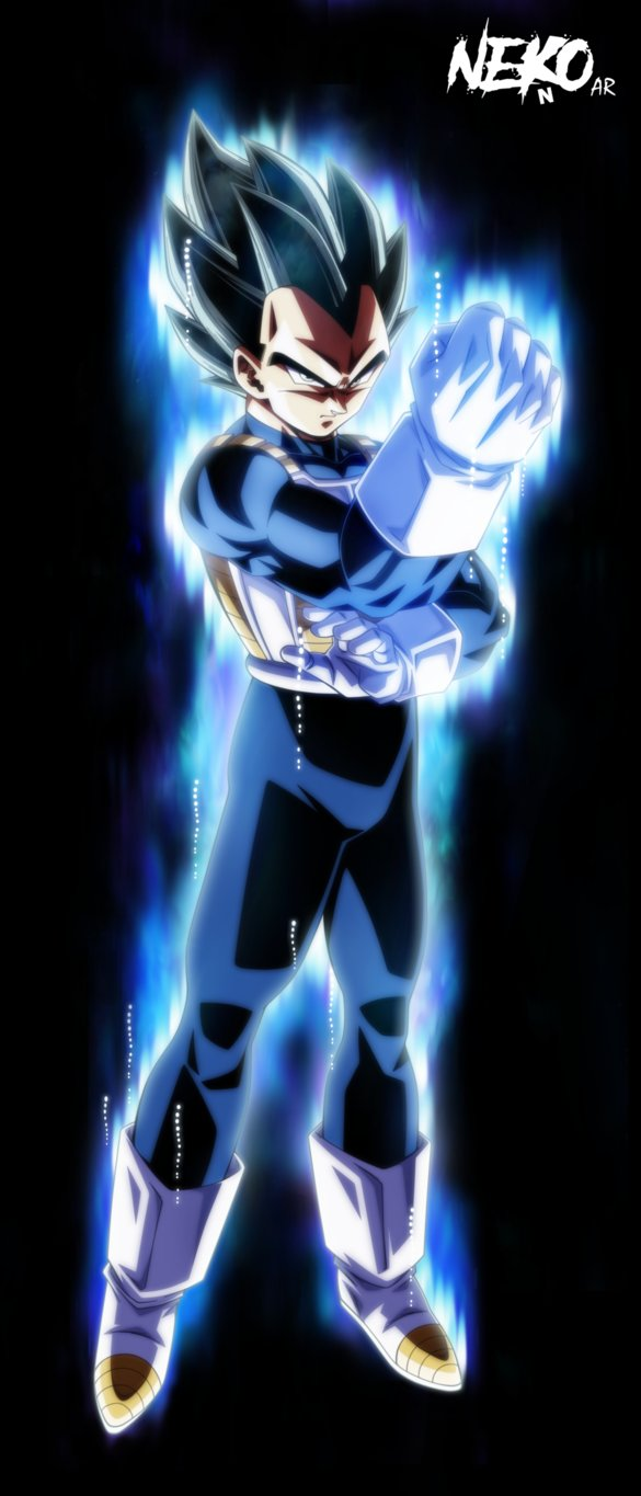 Ultra Instinct Vegeta waura by NekoAR 585x1365