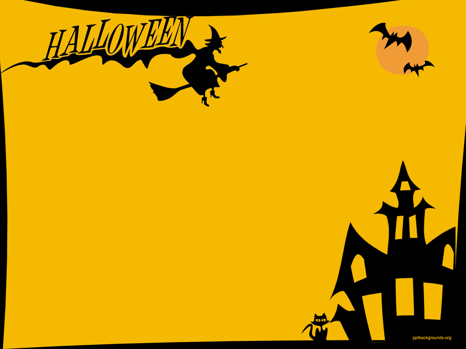Happy Halloween Backgrounds For PowerPoint   Holiday PPT Templates 1600x1200
