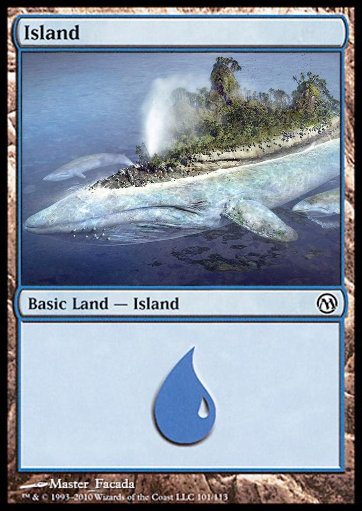 Island Mtg Mtg altered card   whale 720x1015